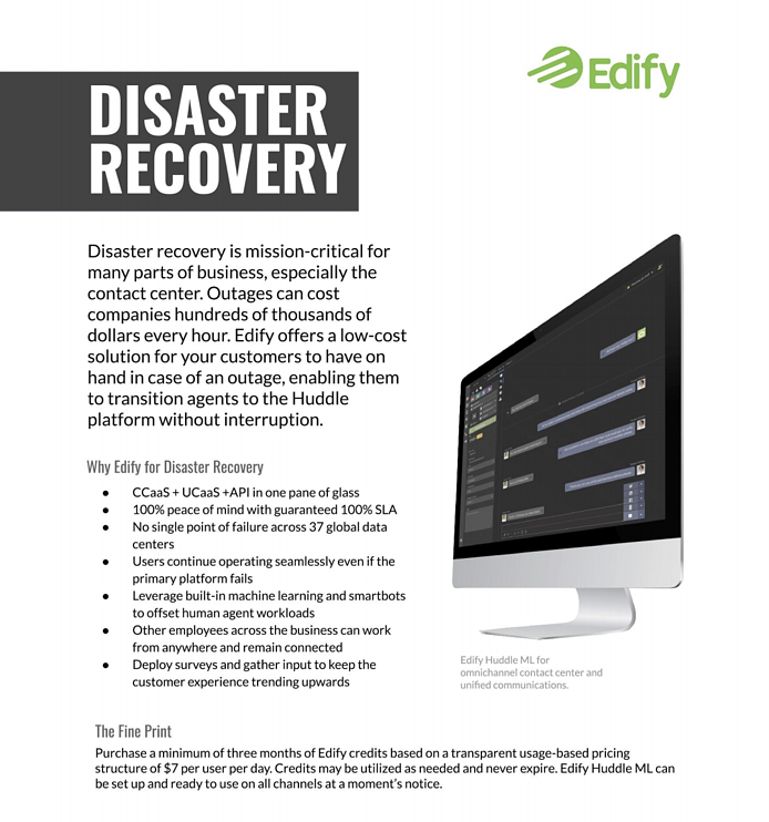 Edify for Disaster Recovery